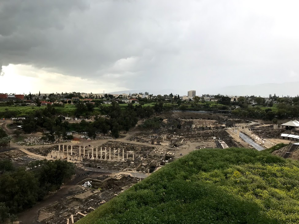The ruins of Beit Shean.