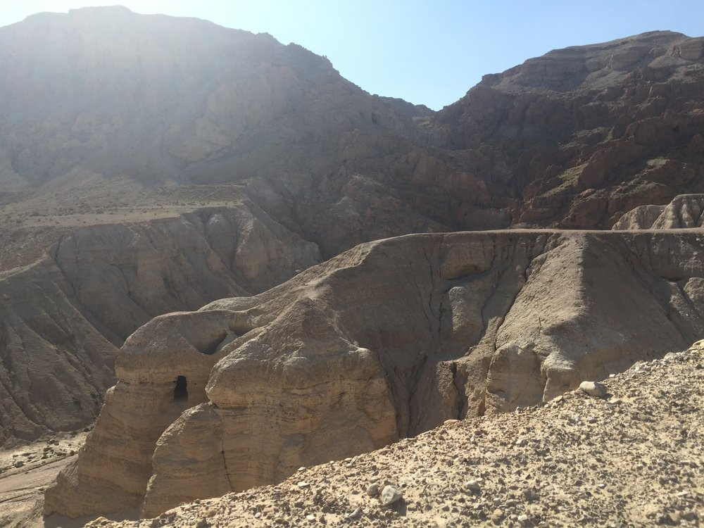 One of many caves at Qumran.
