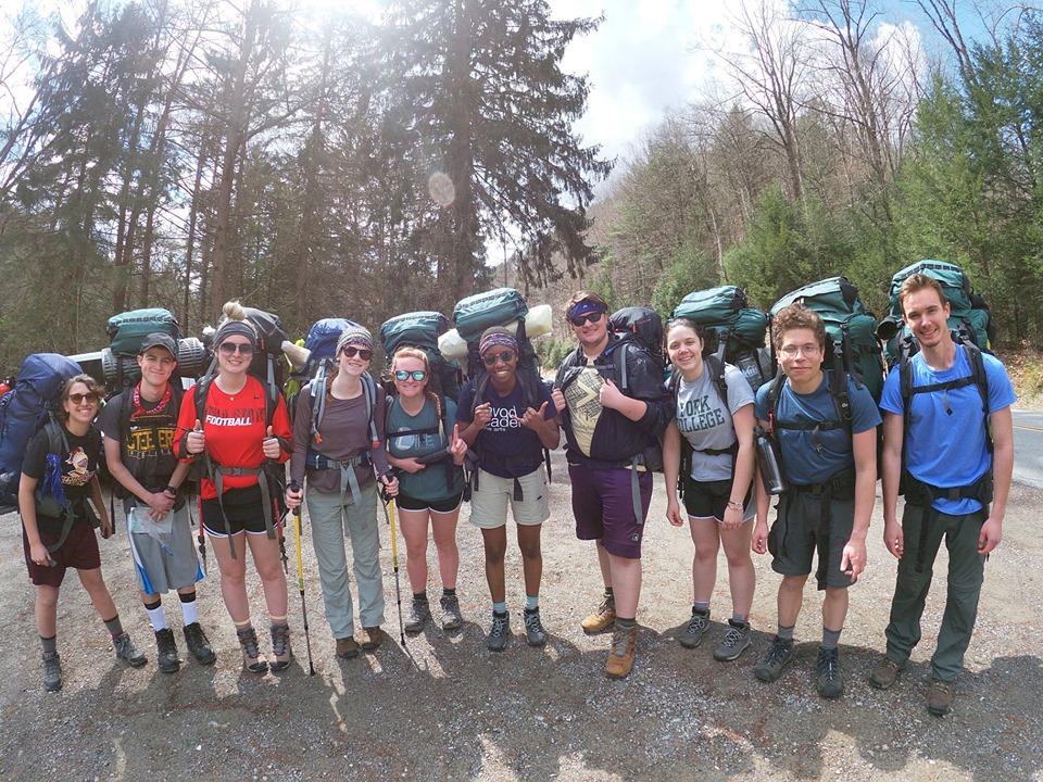 Blue team (A.K.A. Trail Mix) heading out.