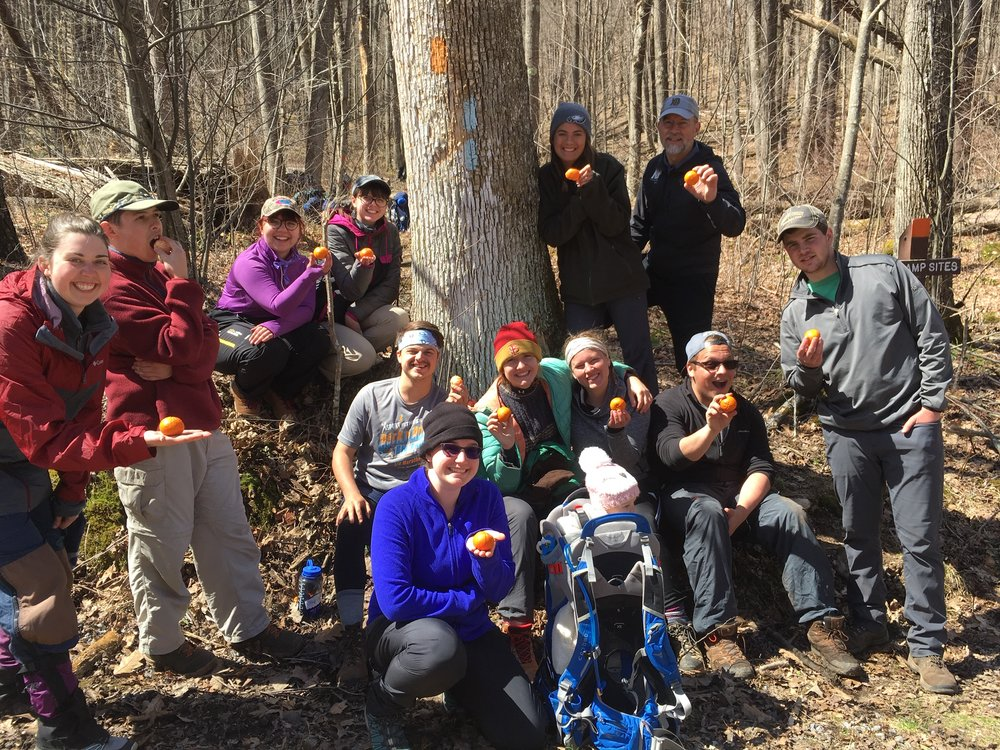 Celebrating the unexpected gift of fresh fruit of the trail.