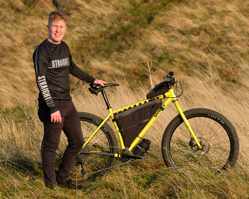 Founder/ Head Designer/ Manufacturer - Ross O'Reilly.   Having a background in product design combined with a passion for biking has lead TO straight cut.   Bike  - Surly Karate Monkey   Straight Cut products  - Custom full frame bag, PROTOTYPE top tube bag, tool roll and prototype cooking kit.