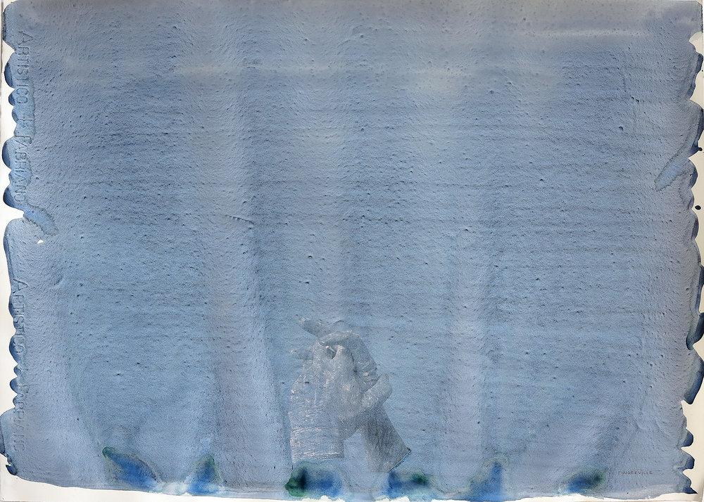 Fingerville . Water-colour, chalk on paper, 50 x 70cm.