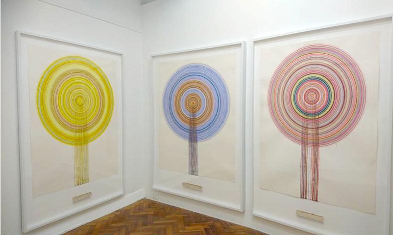 Amendments . Water-colour on paper, balsa tray, each 180 x 140 x 3cm