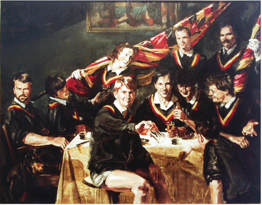 Don's Party (Ormond College), oil on linen, 162.5 x 208.5cm