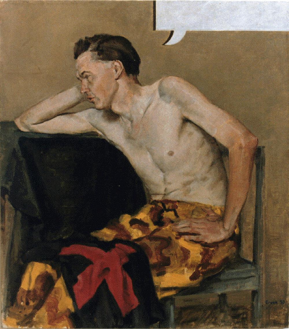 Mute Portrait of David Simpkin,  oil on linen 100.0 x 88.0cm