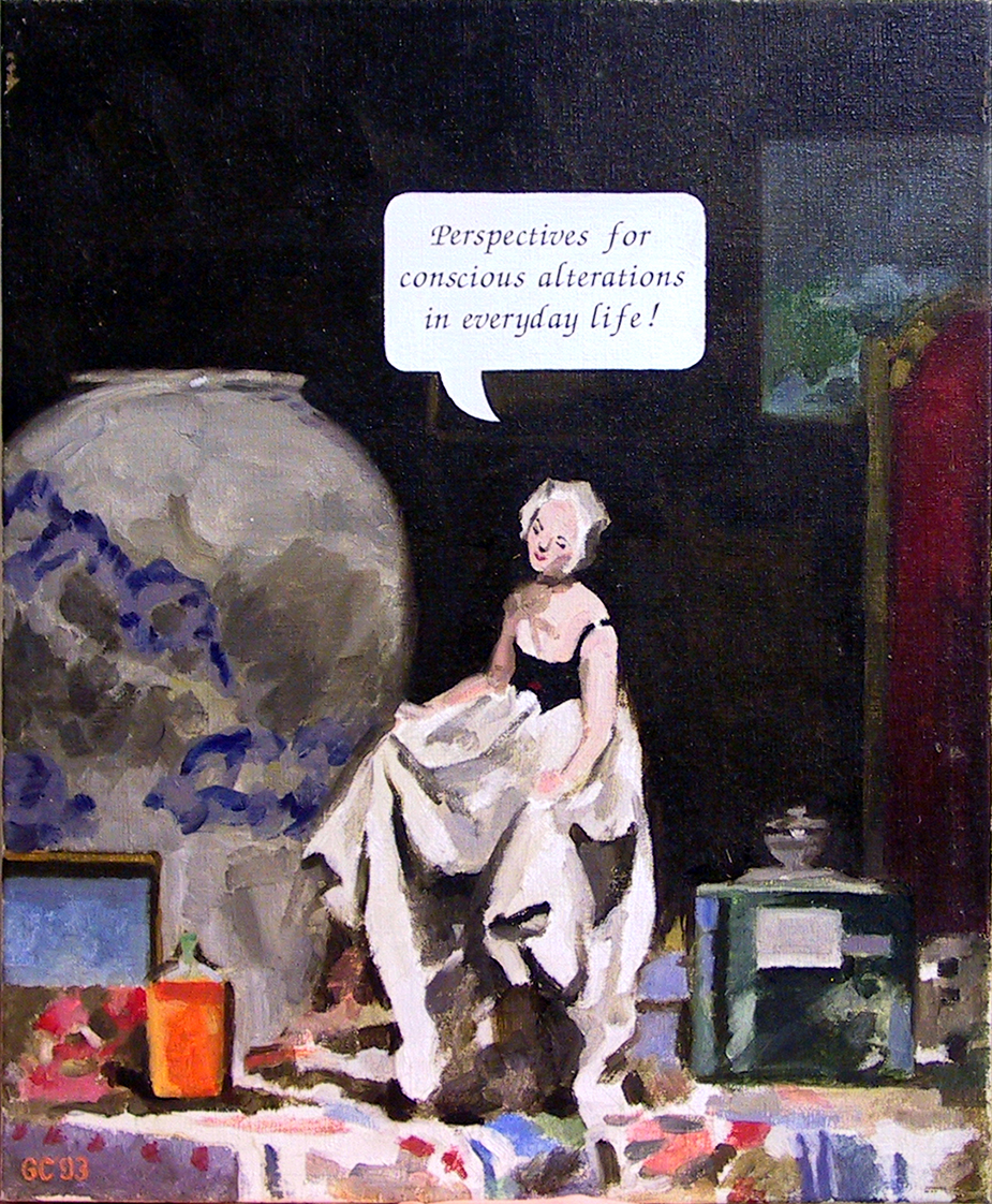 My Lady's Rhetoric,  oil on linen 57.0 x 47.0 cm (variation after John Dunkley-Smith and Max Meldrum)