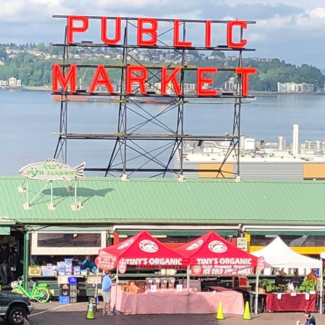 Pike Place Public Market and original Starbucks this morning before boarding the cruise ship.