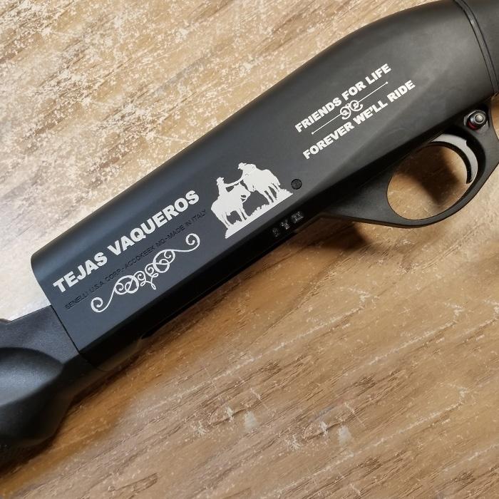 custom shotgun engraving