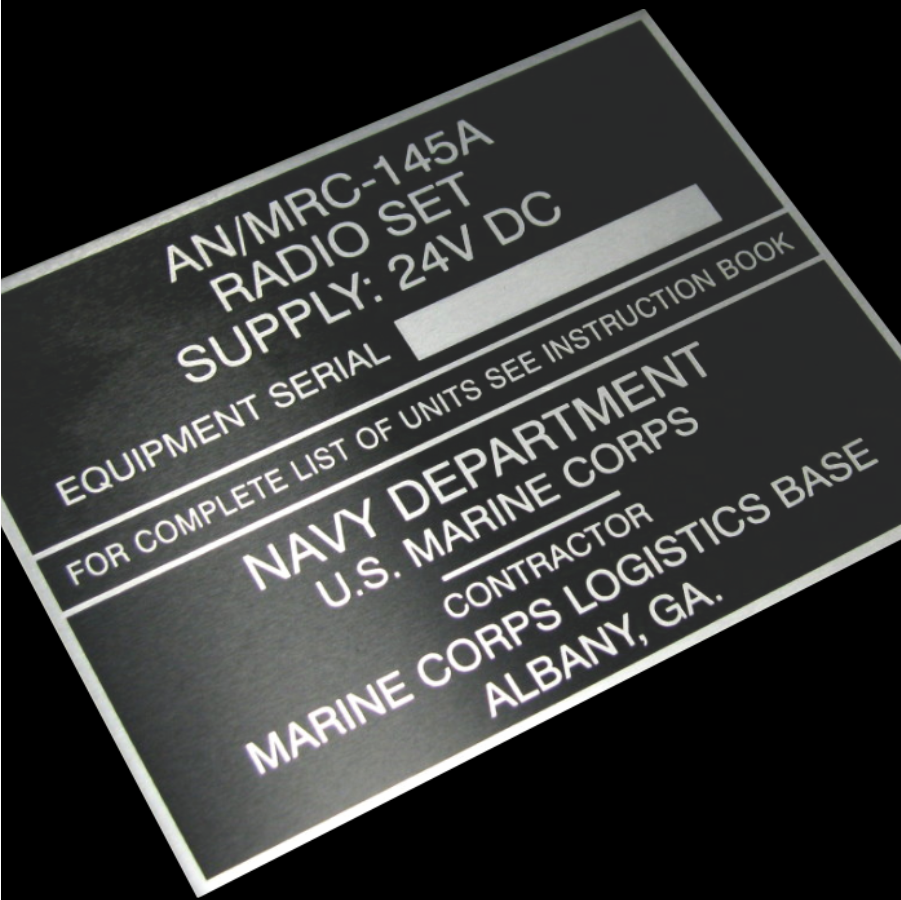 laser engraved metal tag