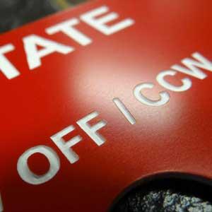 engraved plastic tag