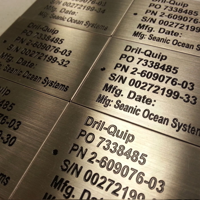 industrial Engraving - branding, equipment tags, and more
