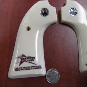 firearm engraving - branding - custom printed pistol grips - logo branding