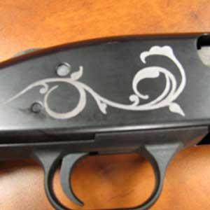 firearm engraving - custom decorated shotgun