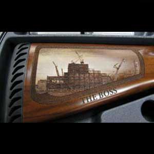 firearm engraving - photo wood burning on stock