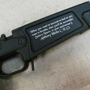 firearm engraving - custom engraved employment gift