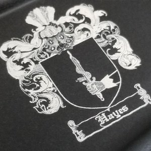 firearm engraving - family crest rifle engraving