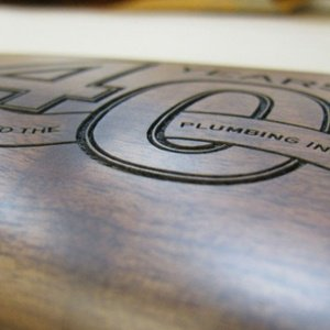 firearm engraving - personalized stock