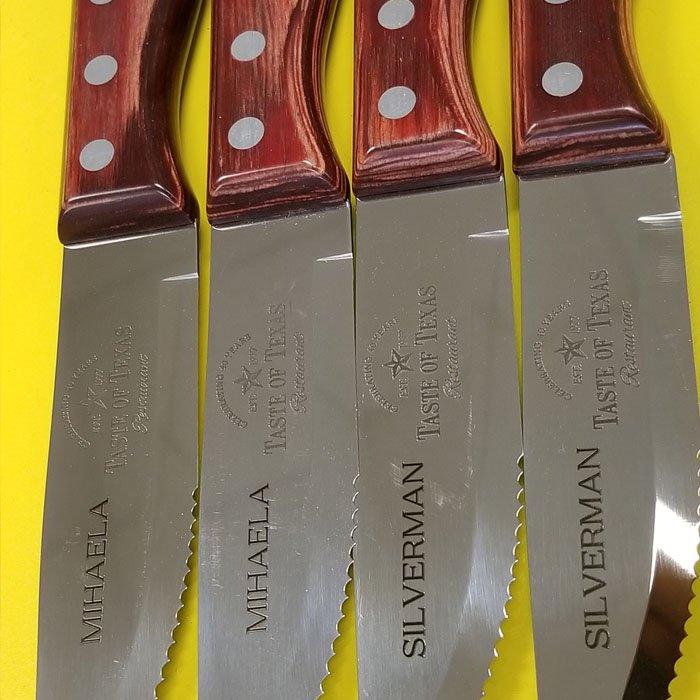 custom engraved steak knives