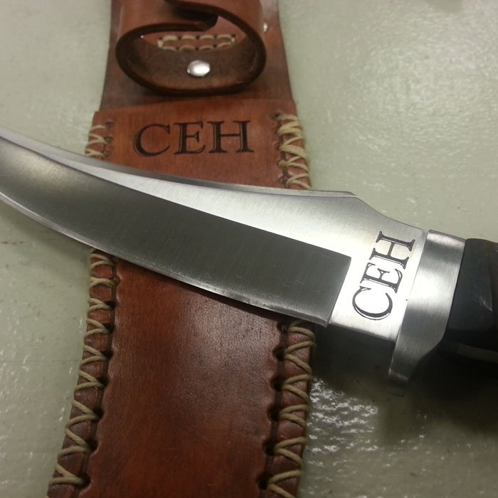 knife sheath custom engraving personalization