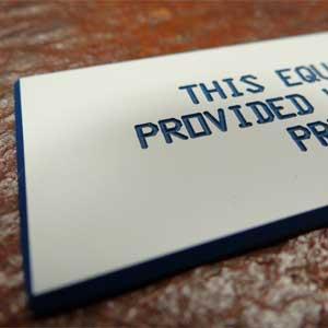 Industrial Engraving - Custom Plastic ID Tags - Engrave It Houston