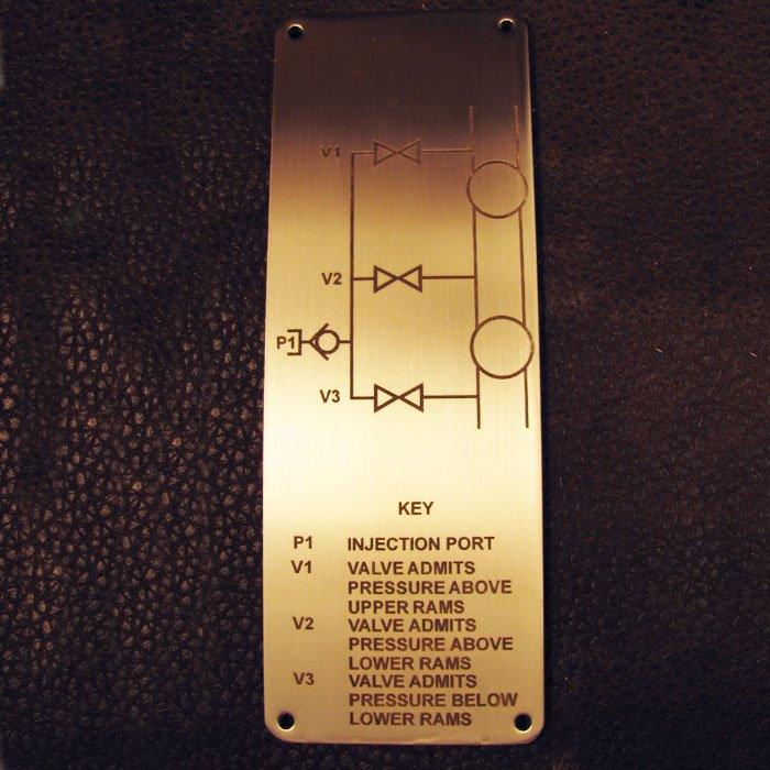 custom engraved metal plate