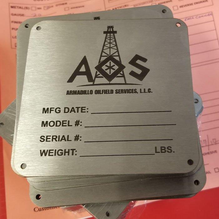 Industrial Marking - Engrave It Houston - Steel Plate Marking