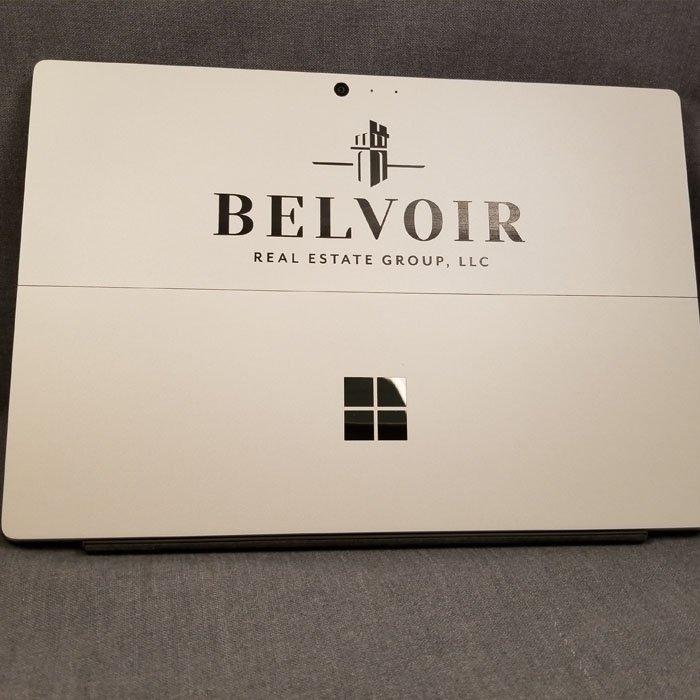 branding - custom engraved tablet