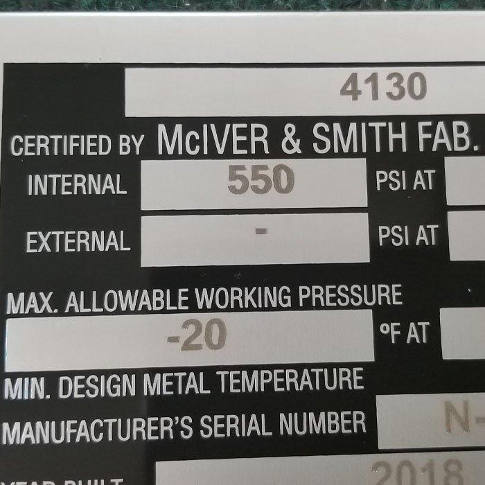 laser engraved plaque information