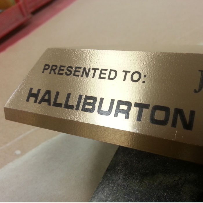 custom engraved award base
