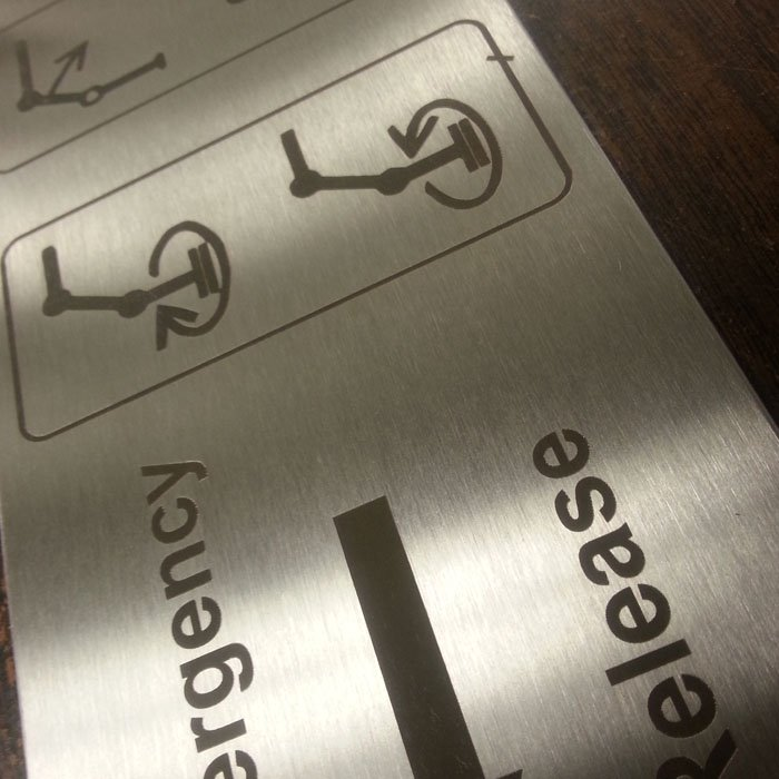 stainless steel sign engraving