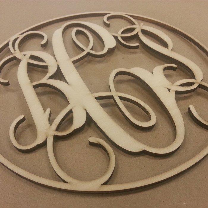 laser cut monogram