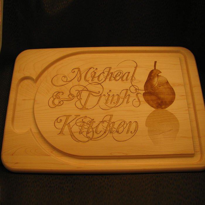 personalized wood burning cutting board