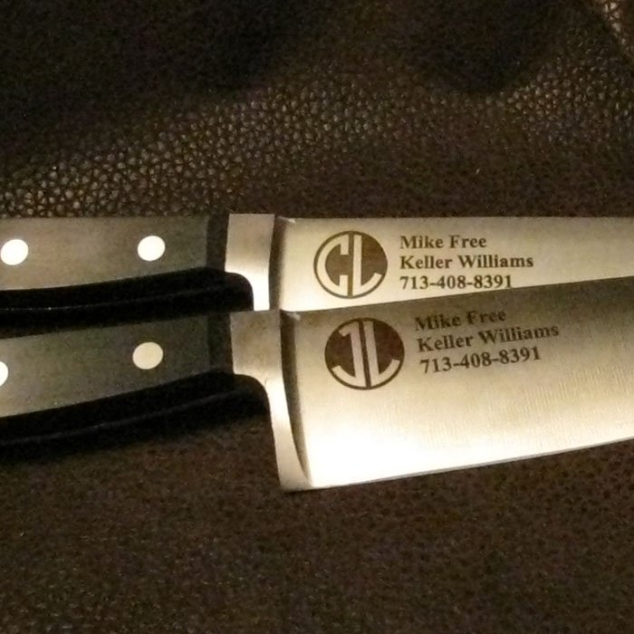 branded personalized kitchen knife