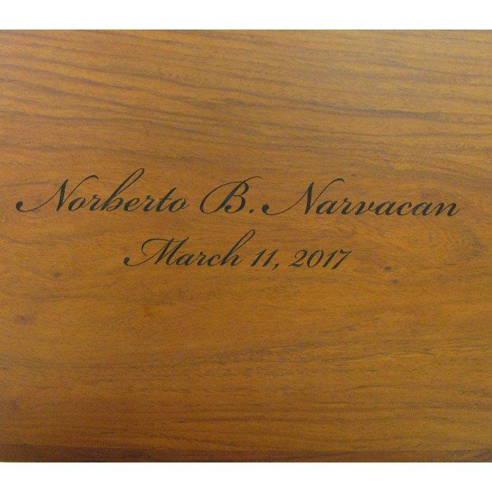 custom engraved wood plaque