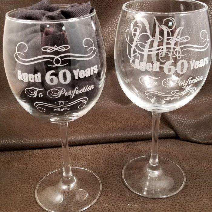 custom personalized wine glass