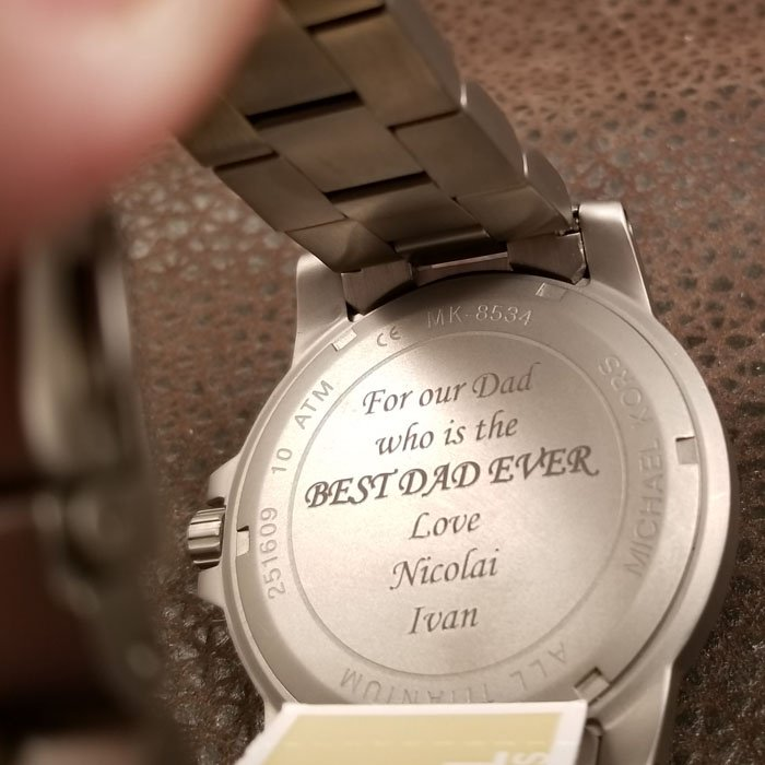 custom engraved watch - personalized fathers day gift