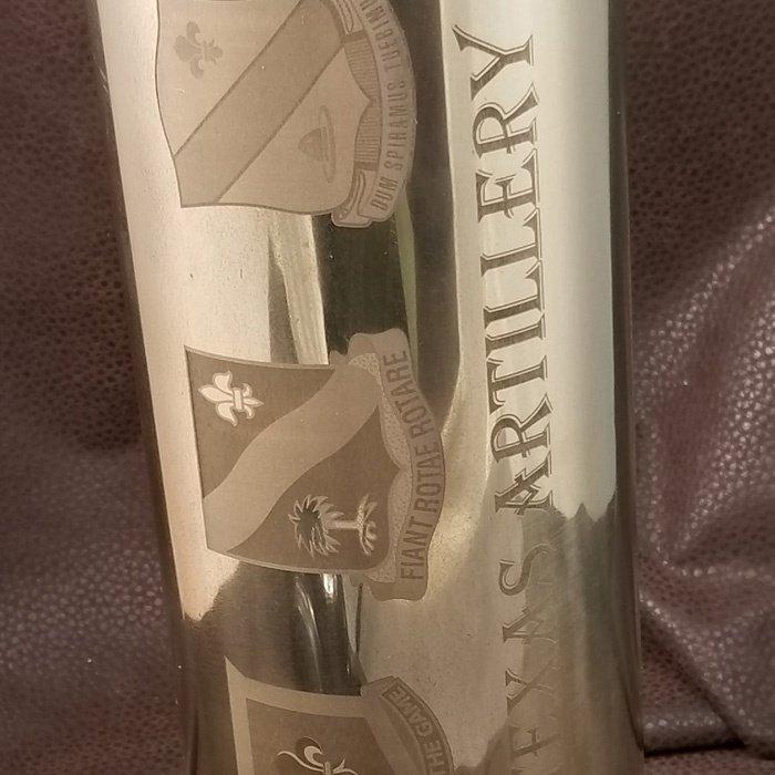 custom engraved artillery shell