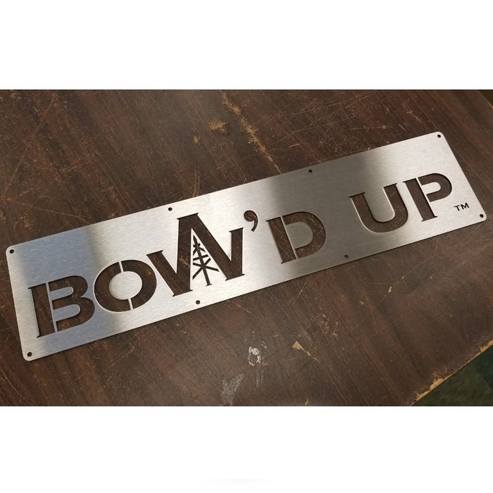 stainless steel laser cut sign