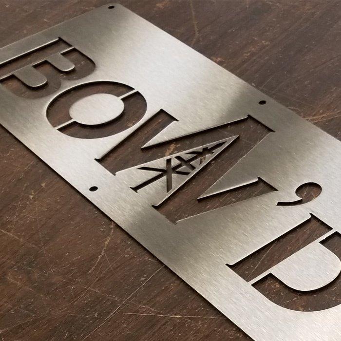 stainless steel custom sign