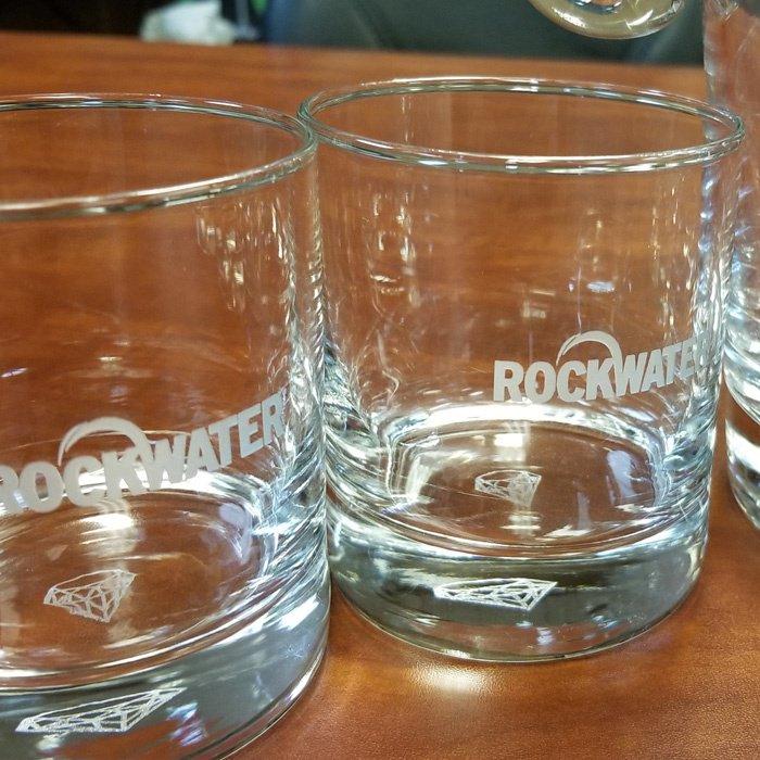 custom engraved glassware - glass etching