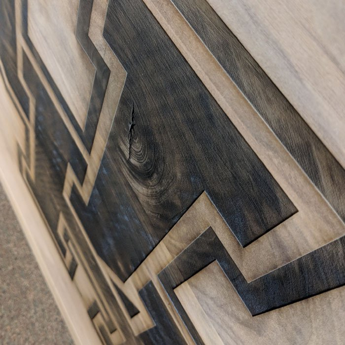 custom wood burning - woodburning - custom engraved table