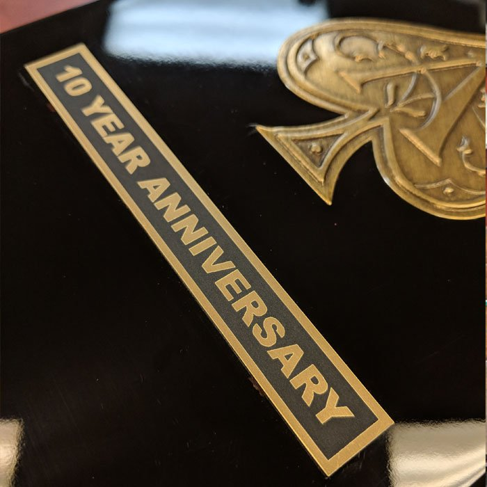 custom anniversary gift - engraved box with plaque