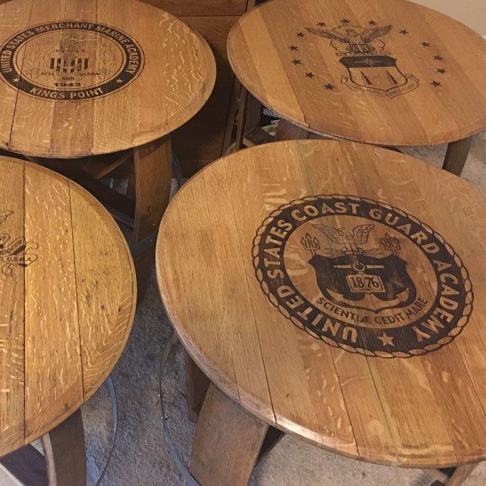 custom engraved wood tables