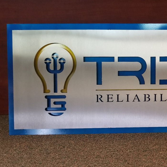 custom engraving - laser cutting - stainless steel sign