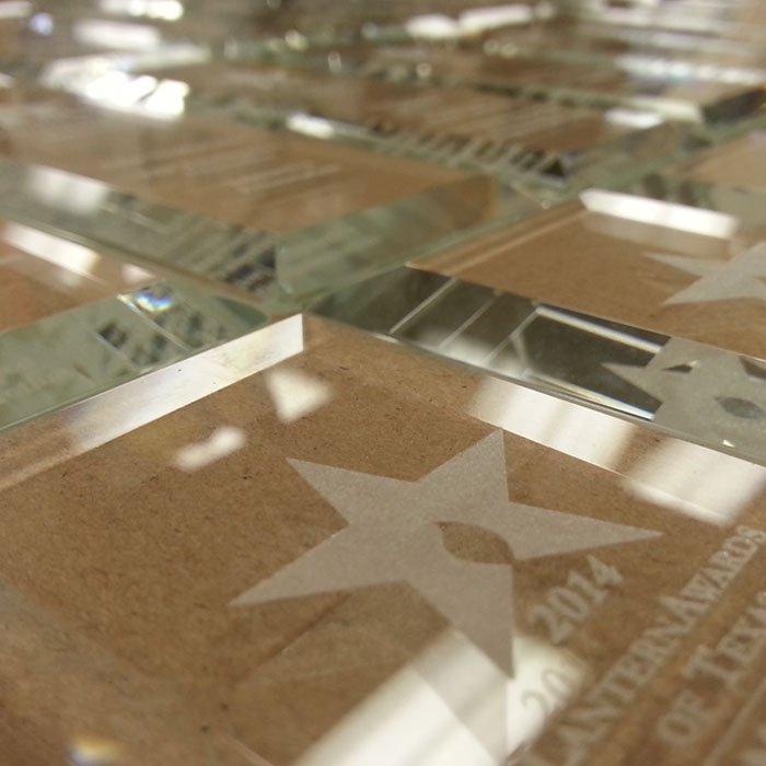 custom engraved glass awards