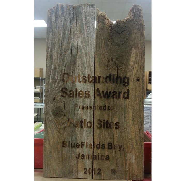 custom engraved personalized wooden award