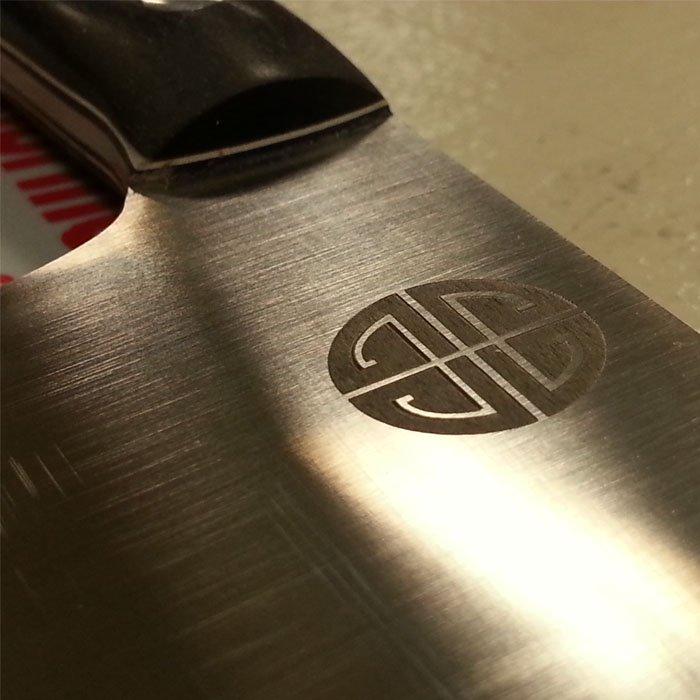 knife blade engraving