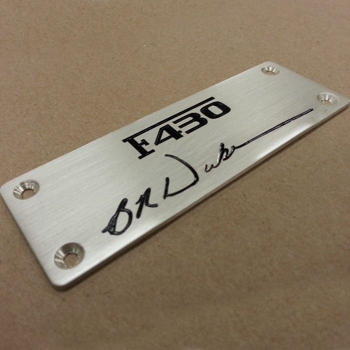 custom metal plate