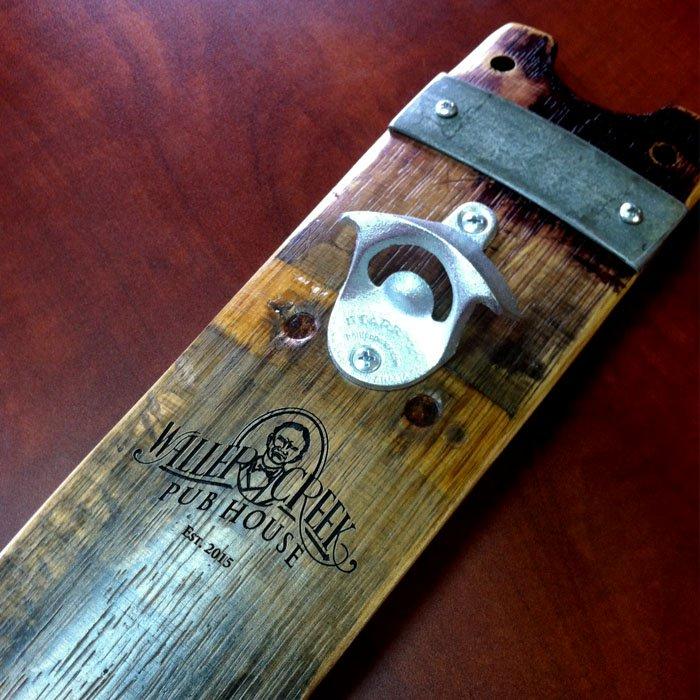 custom engraved bottle opener plaque