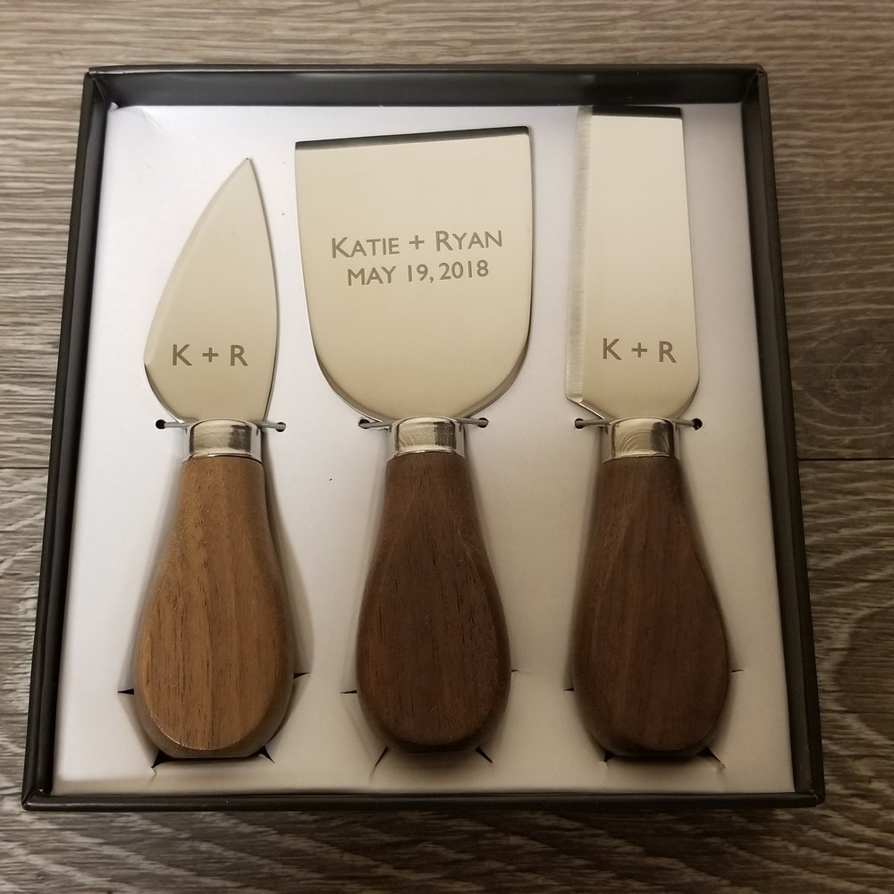 Engraved Cheese Set - Personalized Cheese Set - Engraved Cheese Knife - Personalized Cheese Knife - Custom Gift - Personalized Gift - Engrave It Houston